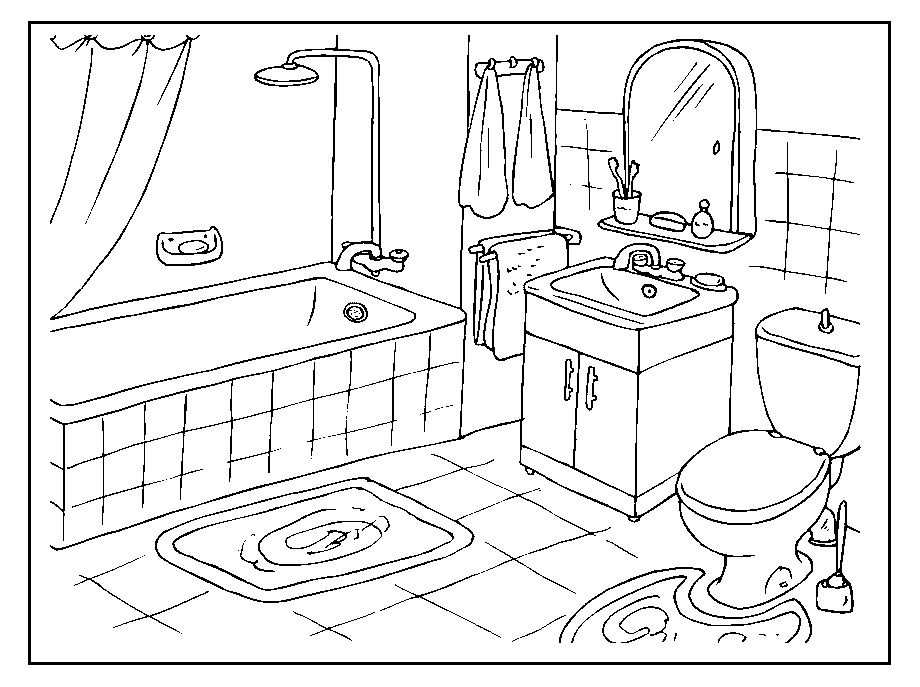 Kleurplaat Badkamer Coloring Pictures For Kids Coloring Pages