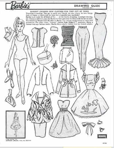 Barbie Paper Doll And Coloring Book Missmissypaperdolls Blogspot