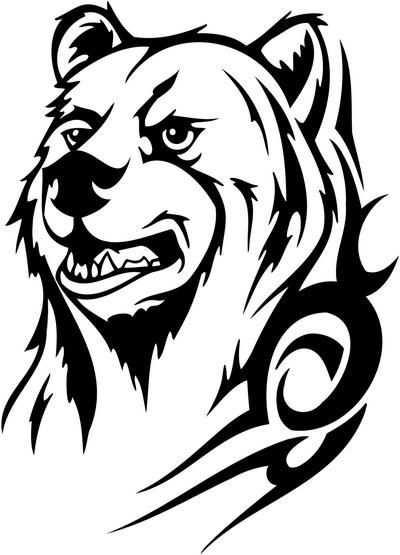Image Result For Native Drawings Of Bears Kleurplaten Silhouet