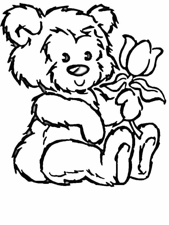 Kleurplaten Bloemen Bear Coloring Pages Animal Coloring Pages