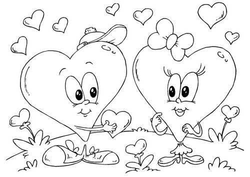 Kleurplaat Hartjes Valentijn In 2020 Kleurplaten Disney