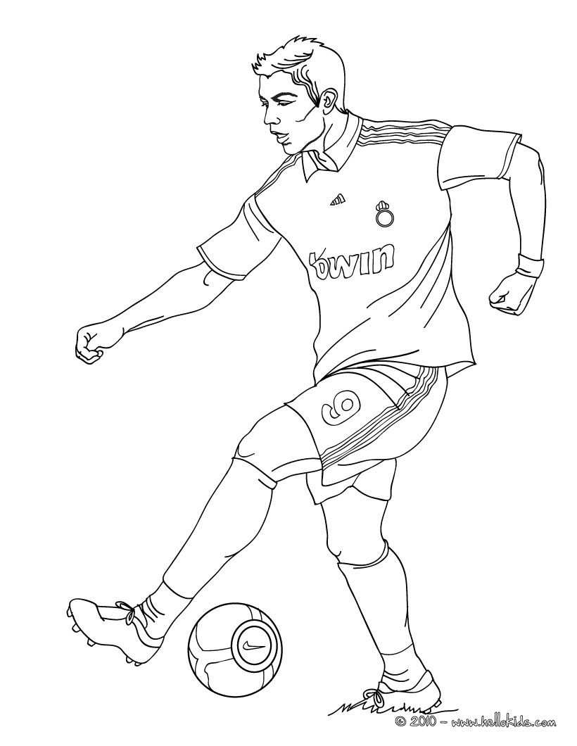 Cristiano Ronaldo Colouring Page Sports Coloring Pages Football