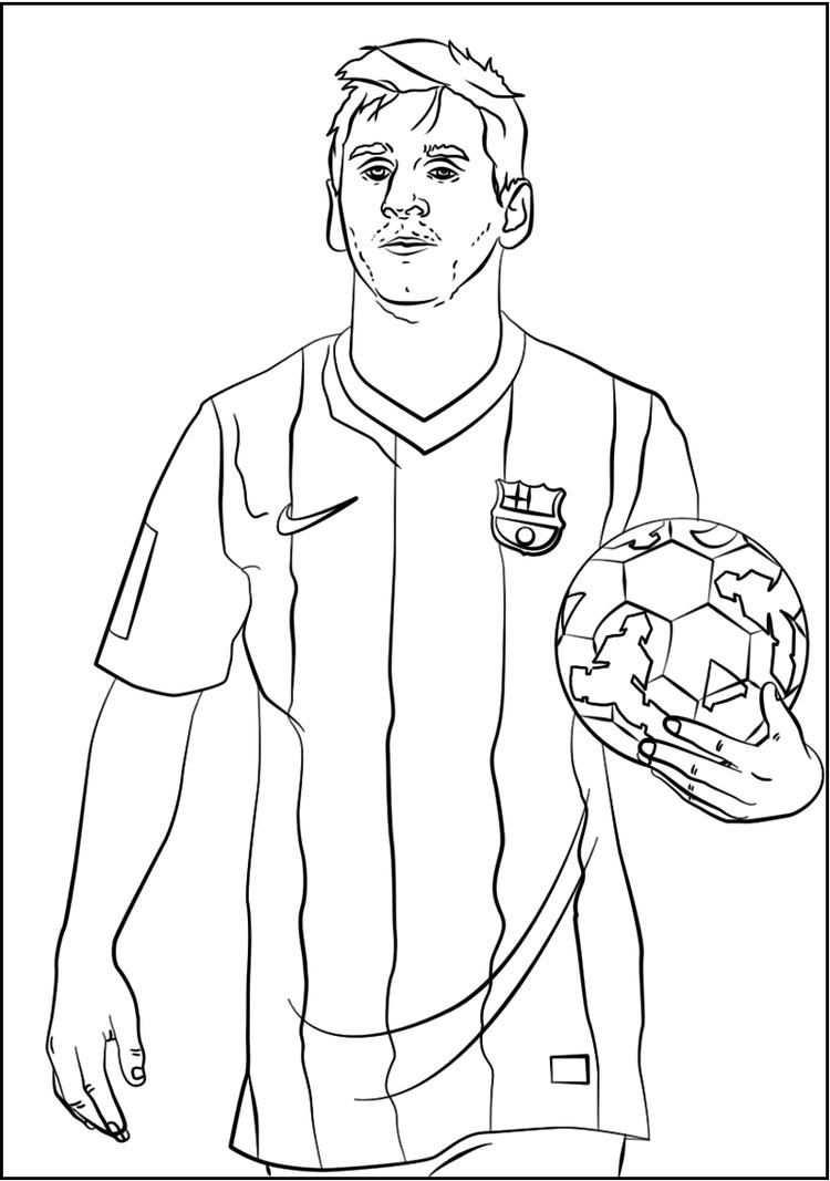 Lionel Messi Soccer Player Coloring Sheet Met Afbeeldingen