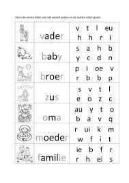 Thema Familie Werkbladen Google Zoeken Letterherkenning