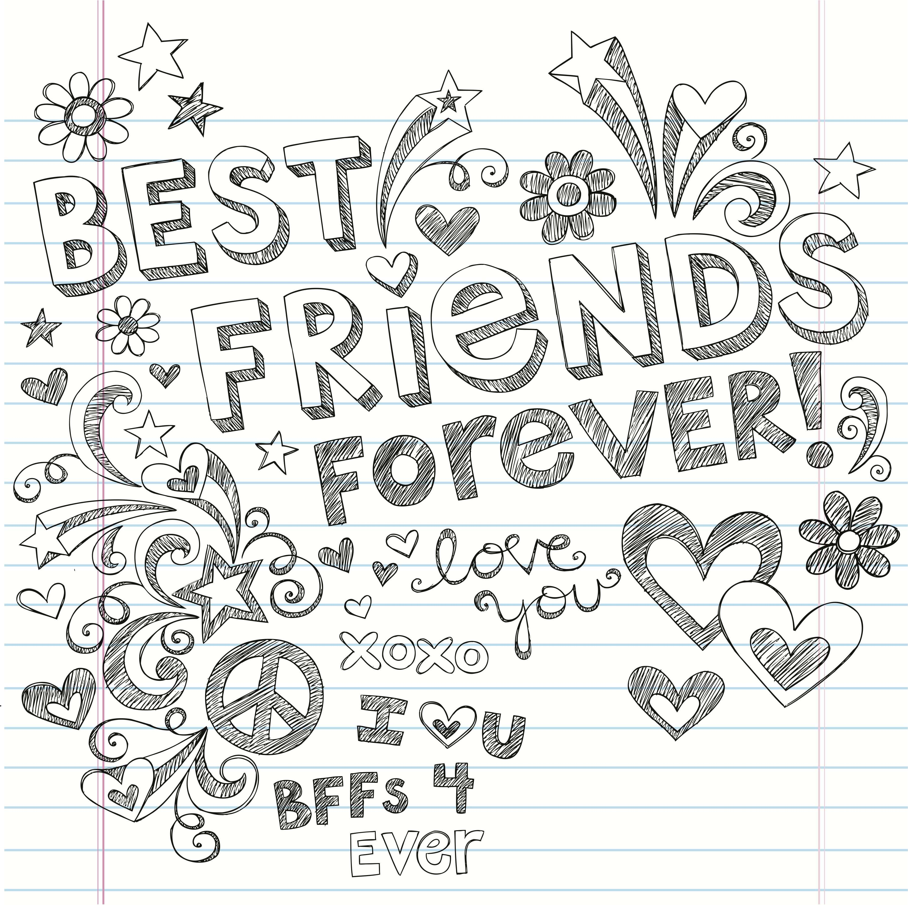 Cute Bff Doodle With Images Best Friend Drawings Drawings Of