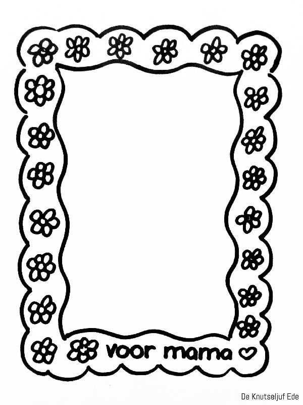 Kleurplaten Voor Mama Moederdag Knutselen Groep 4 Kleurplaten