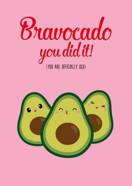 Postkaart Bravocado You Are Old In 2020 Met Afbeeldingen