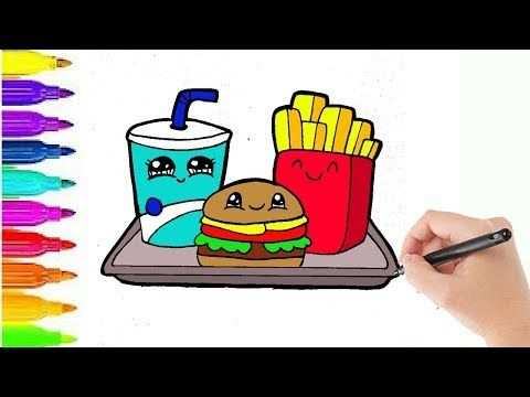 Hoe Teken Je Cute Hamburger Menu Happy Meal Tekenen Youtube