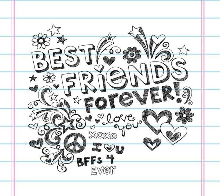 Friends Forever Notebook Doodles Kleurplaten Schetsboek