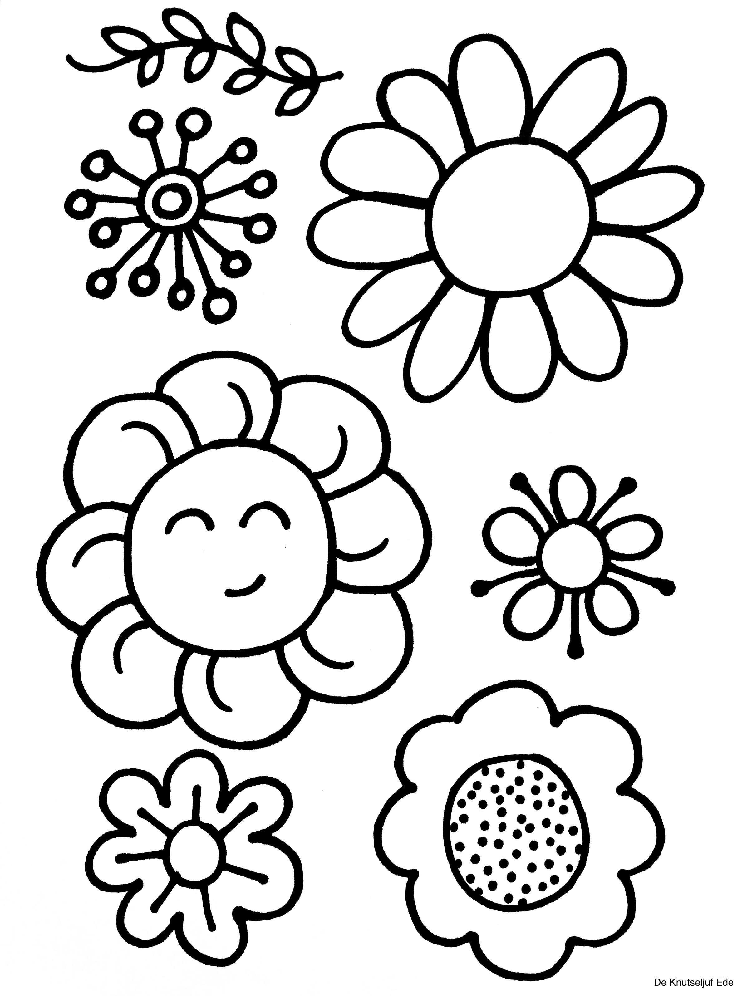 Kleurplaten Bloemen Kleurplaten Bloem Kleurplaten Bloem Sjabloon