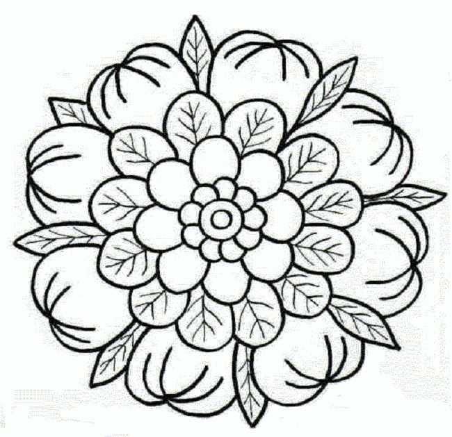 Bloemen Met Afbeeldingen Mandala Kleurplaten Kleurplaten Mandala