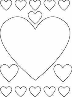 Kleurplaat Hartjes Met Afbeeldingen Hart Sjabloon Valentijn