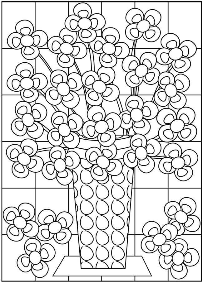 Kleurplaat Bloemen In Een Vaas Kleurplaten Bloem Kleurplaten