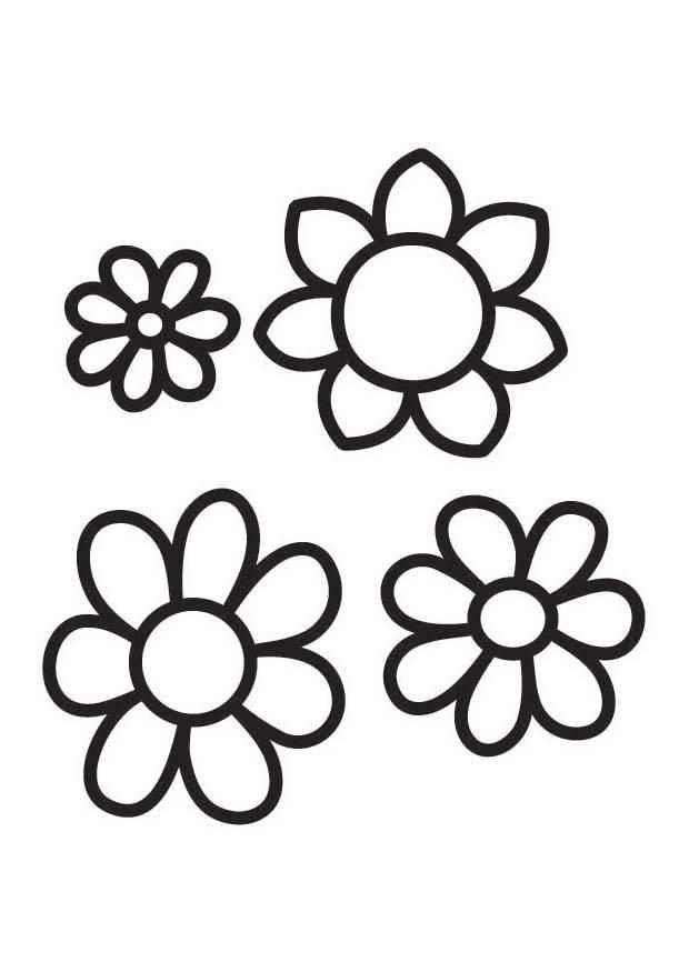 Afbeeldingsresultaat Voor Bloemen Tekening Kleurplaten Bloem