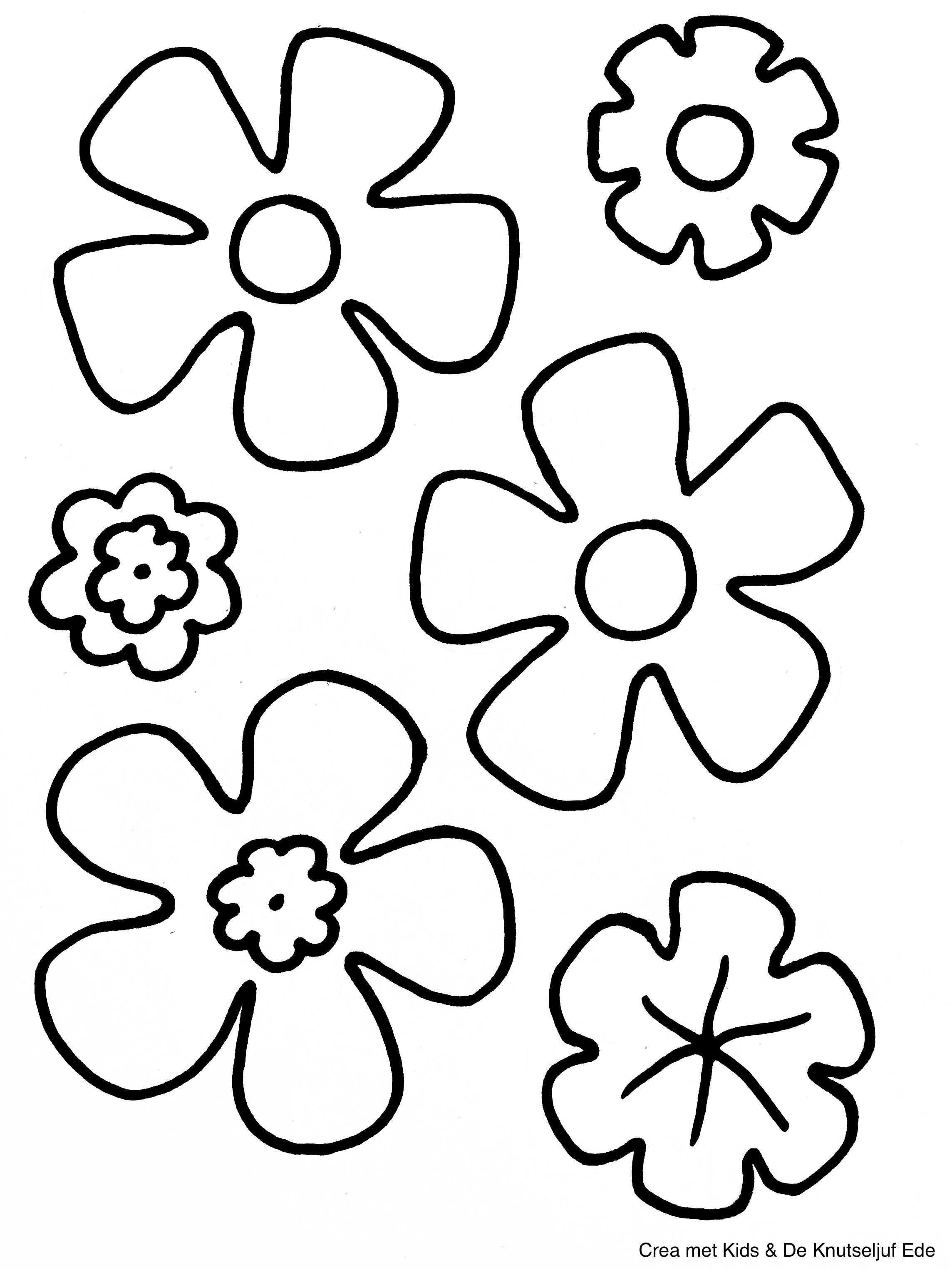Kleurplaten Bloemen Kleurplaten Papieren Bloemen Knutselen