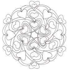 Hartjes Mandala Kleurplaten Mandala Kleurplaten Valentijnen