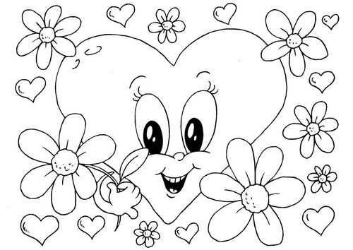 Kleurplaat Bloemen Valentijn Kleurplaten Valentijnen