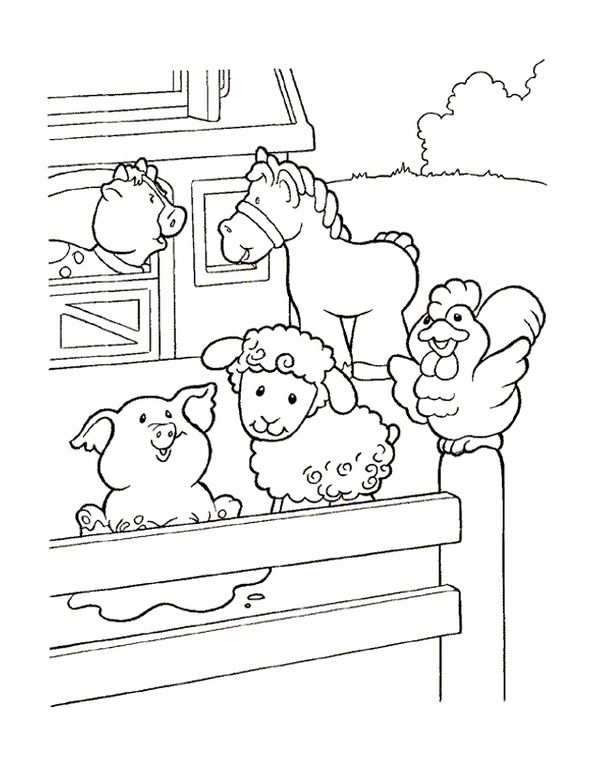 Coloring Page Little People Little People Con Imagenes