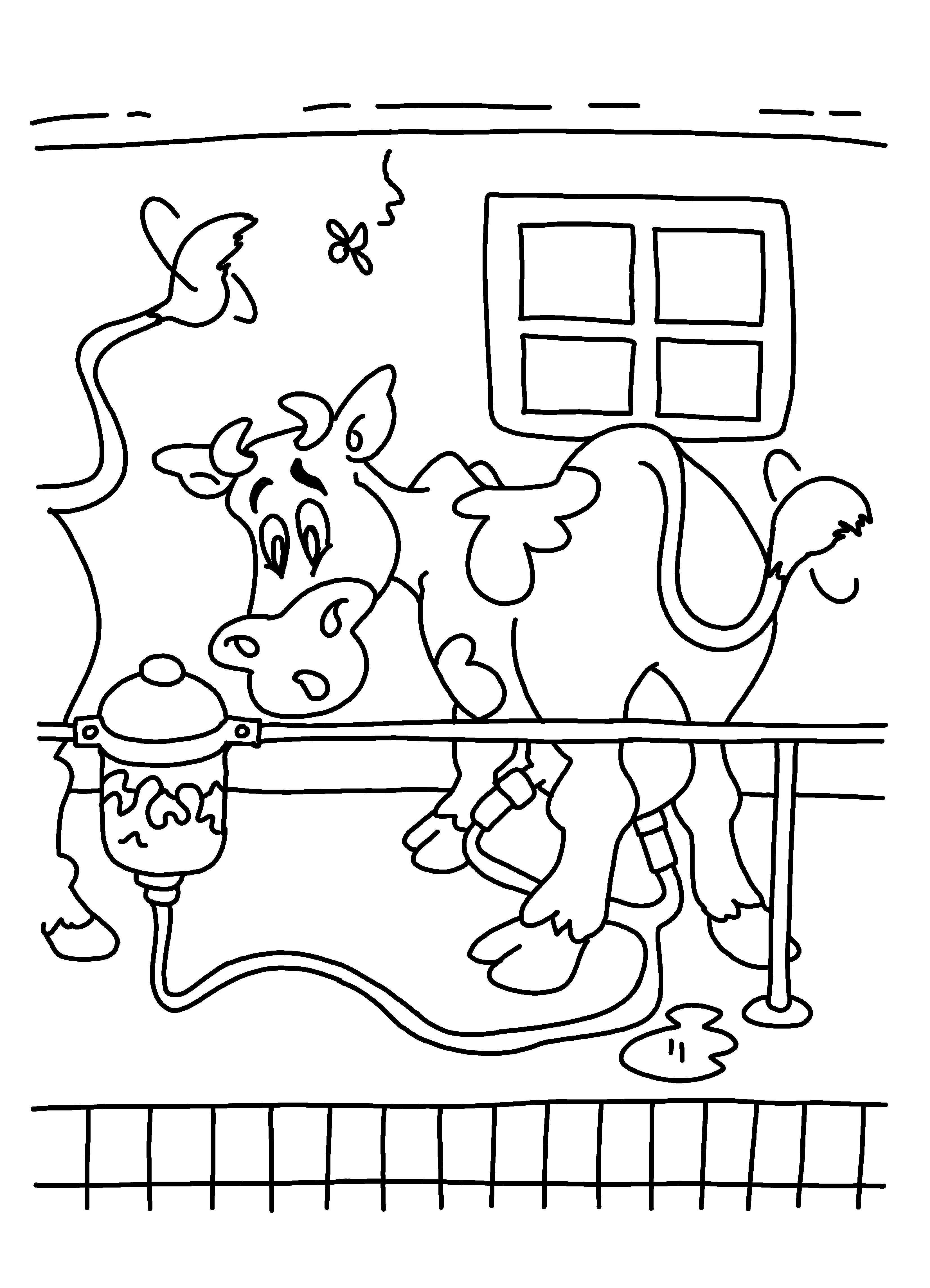 Kleurplaat Kleurplaten Boerderijdieren En Koeien