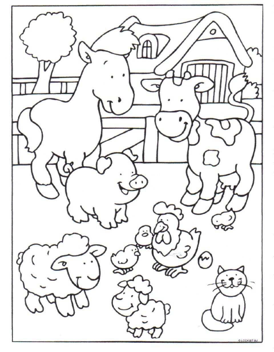 Kleurplaat Boerderij With Images Farm Coloring Pages Farm