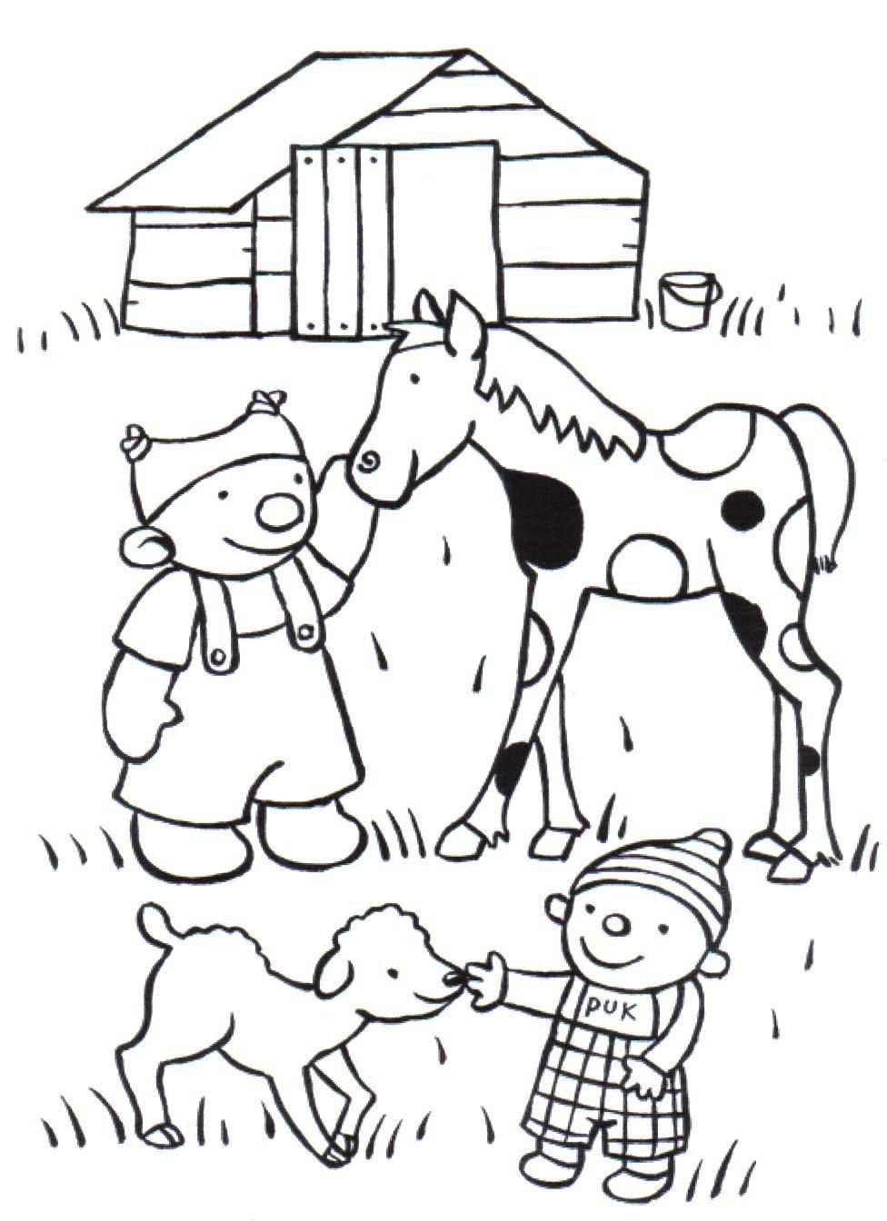 Kleurplaat Ik En Co Kinderboerderij Kleurplaten Boerderij Thema