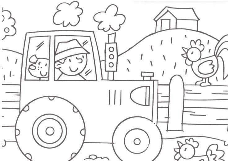 Farm Coloring Page 1 Crafts And Worksheets For Preschool