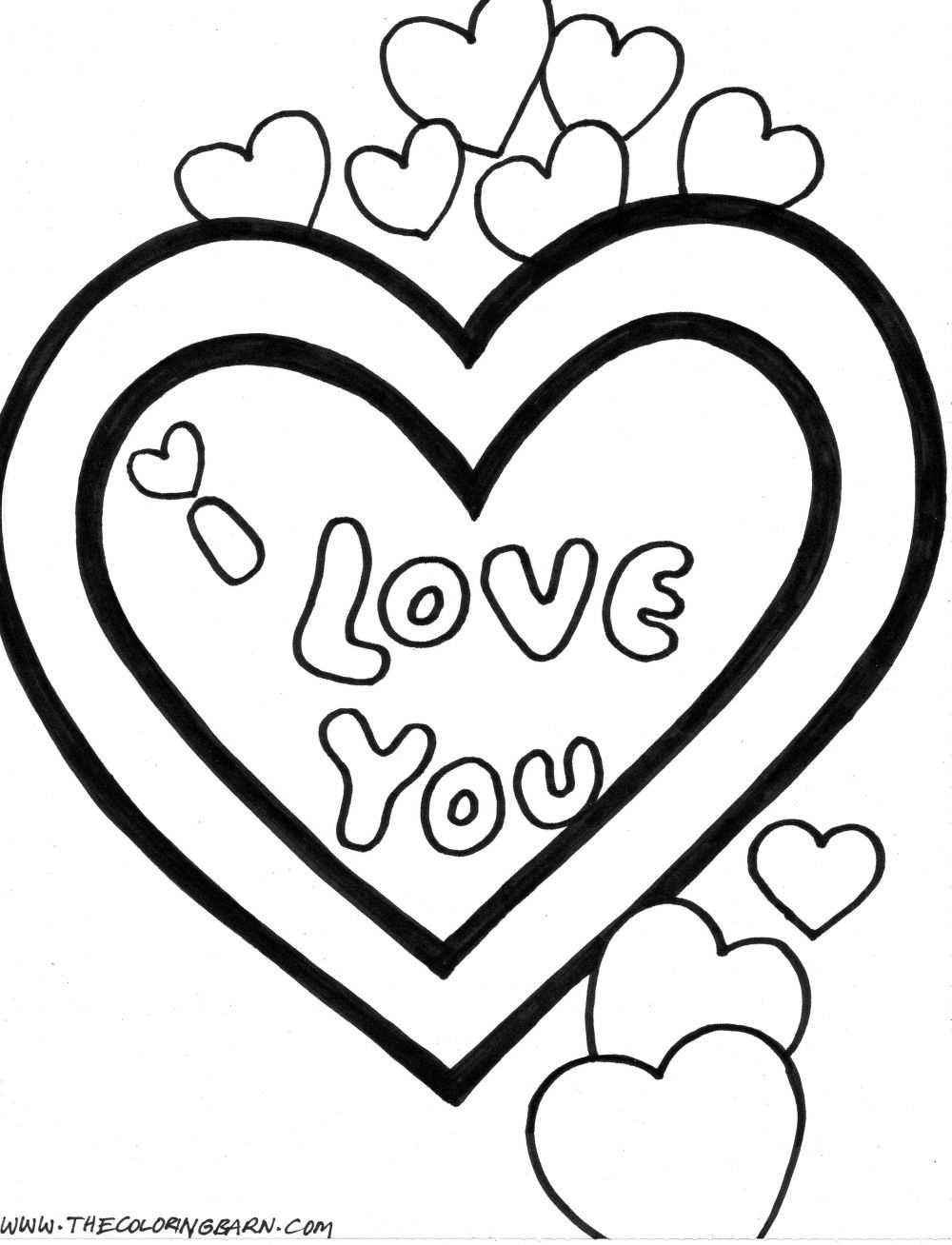 Cute Love Coloring Pages Kleurplaten Afbeeldingen Valentijnsdag