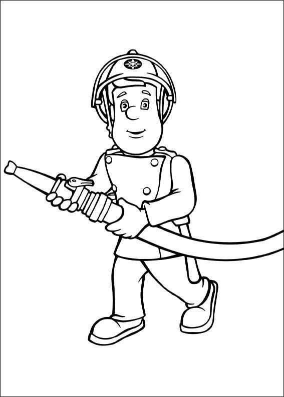 Kleurplaat Brandweerman Sam Brandweerman Sam Ausmalbilder
