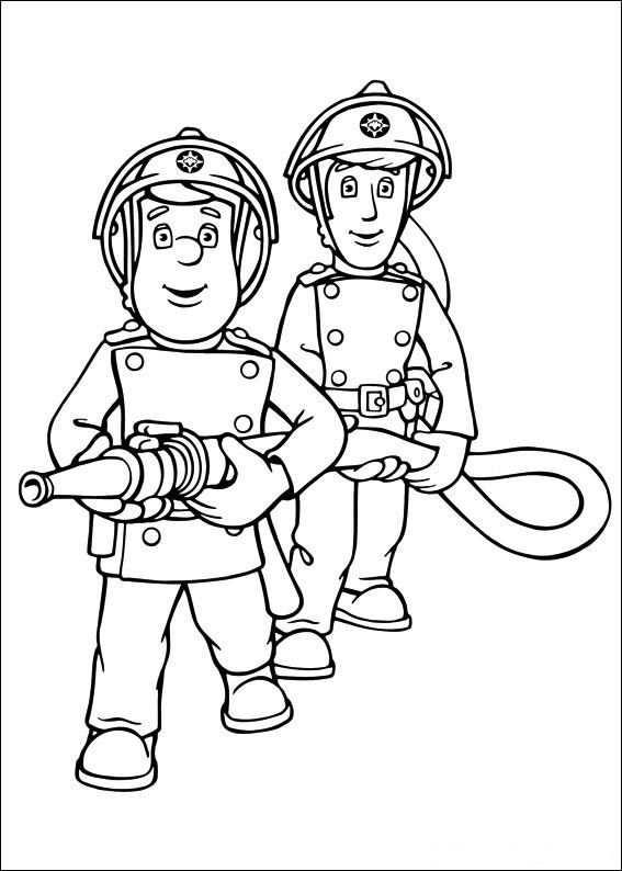 Brandweerman Sam Kleurplaat Brandweerman Kleurboek