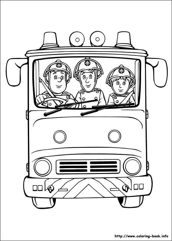 Fireman Sam Coloring Picture Brandweerman Kleurboek Kleurplaten