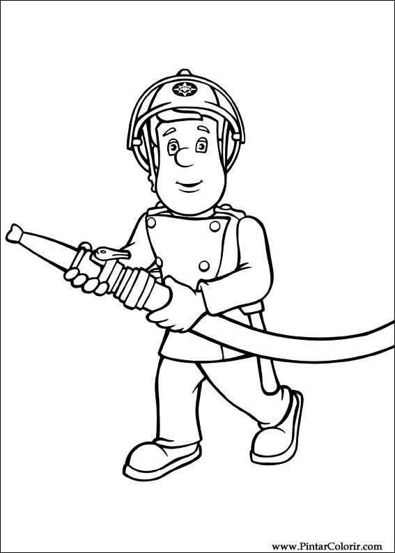 Brandweerman Sam Kleurplaat Brandweerman Kleurplaten
