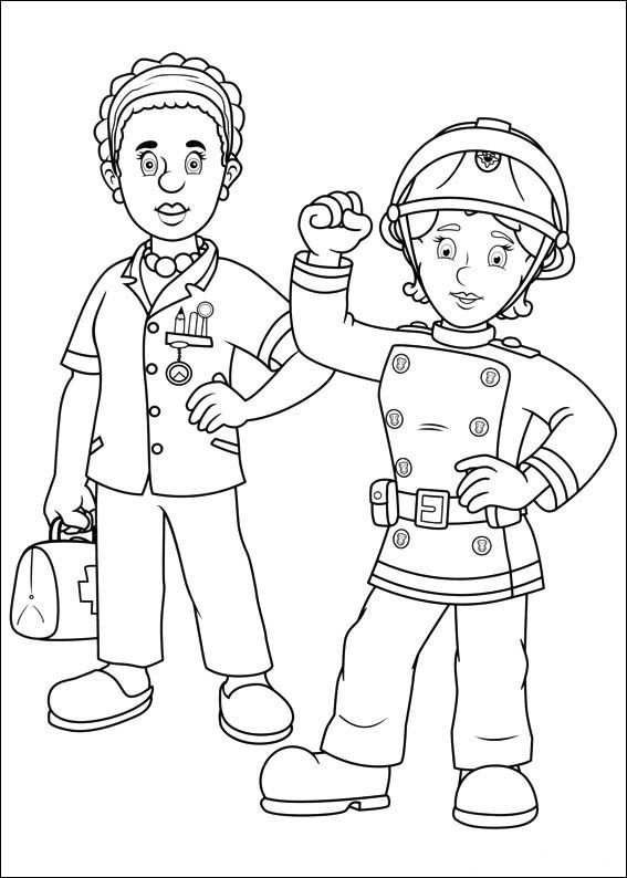 Fireman Sam Coloring Picture Tuzolto Sam Szinezo Coloringpage