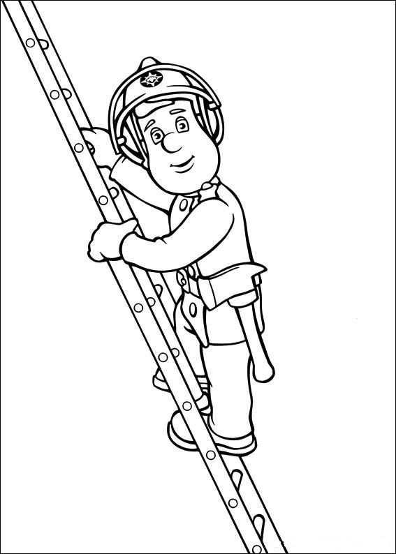 Brandweerman Sam Kleurplaat Brandweerman Kleurplaten En