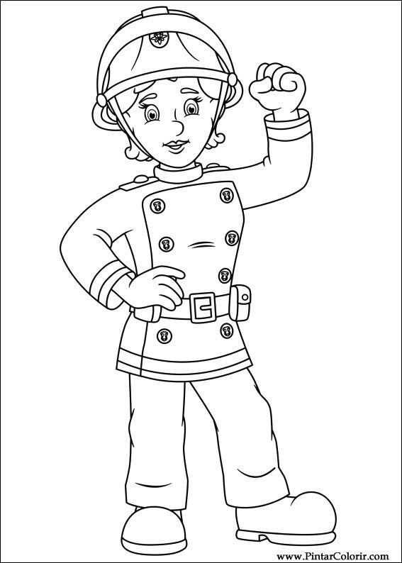 Brandweerman Sam Jenny Kleurboek Brandweerman