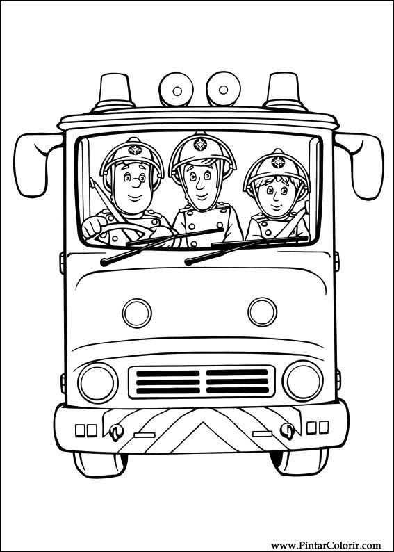 Brandweerman Sam Kleurplaat Brandweerman Kleurboek Kleurplaten