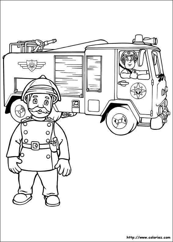Coloriage Camion Sam Le Pompier Pompieri Vigili Del Fuoco Disegni