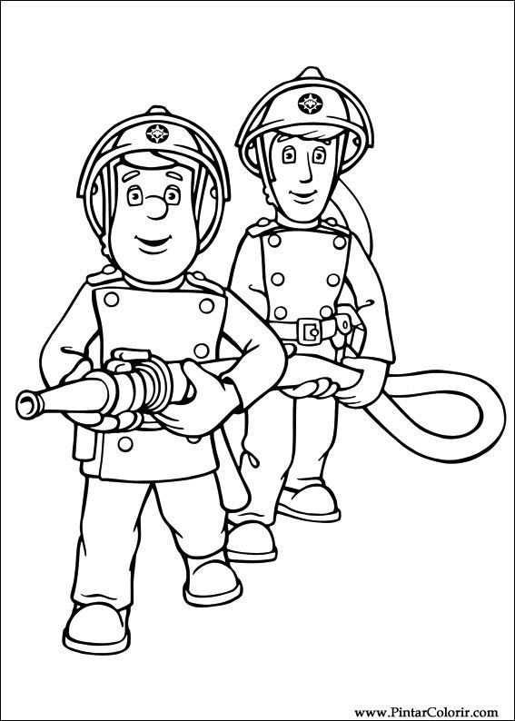Brandweerman Sam Kleurplaat Brandweerman Kleurplaten En Kleurboek
