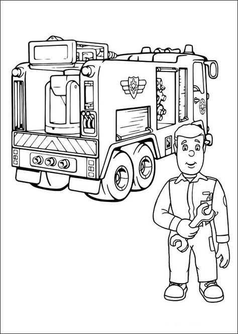 Brandweerman Sam 10 Kleurplaten Voor Kinderen Kleurboek