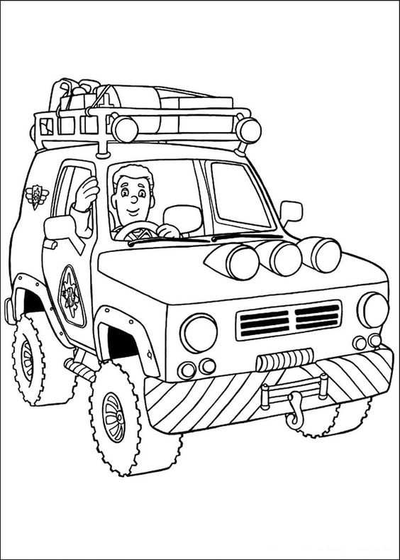 Fireman Sam Coloring Pages Avec Images Coloriage Camion
