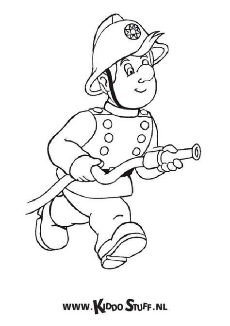 Brandweerman Sam Kleurplaten Brandweerman