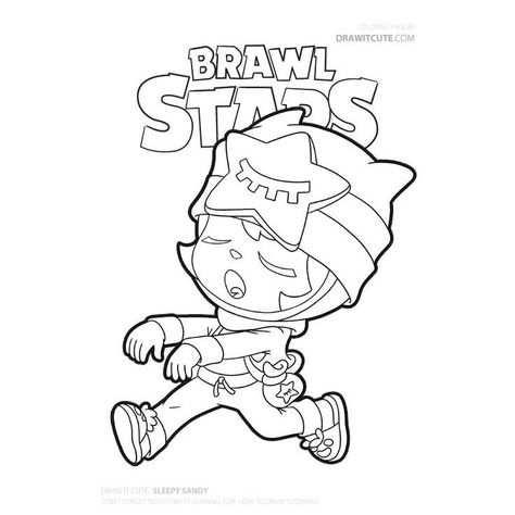 Kleurplaat Brawl Stars