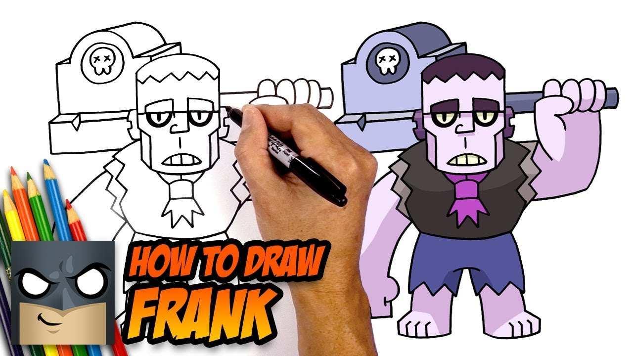 How To Draw Brawl Stars Frank Step By Step Youtube