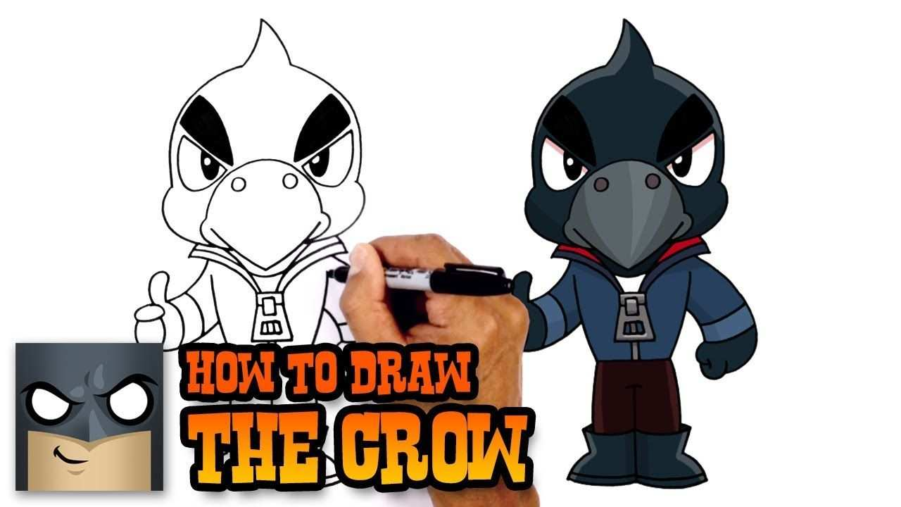 How To Draw Crow Brawl Stars Goruntuler Ile Sanat Resim Oyun