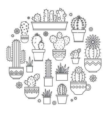 Cactus Kleurplaat Cactos Desenho Como Desenhar Maos Desenho