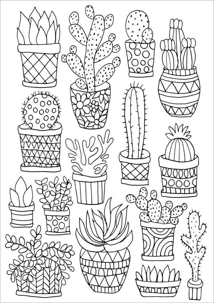 Coping Up With Stress Met Afbeeldingen Kleurplaten Cactus