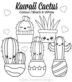 Kawaii Cactus Clipart Cu Okay With Images Cactus Clipart