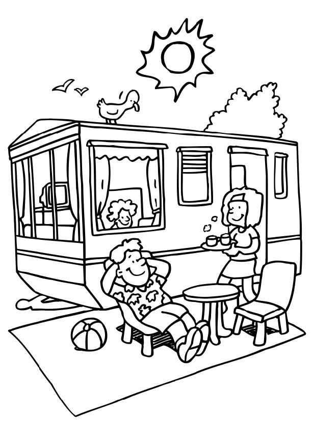 Camping Coloring Pages Zomer Kleurplaten Gratis Kleurplaten En