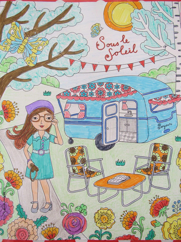 Kleurplaat Vakantie Kleurplaten Camping Thema Zomer Kleurplaten
