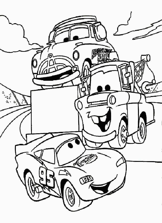 kleurplaat cars 3