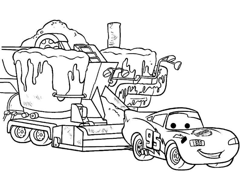 Free Printable Lightning Mcqueen Coloring Pages For Kids With